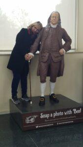 With Benjamin Franklin